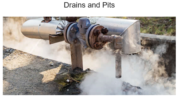 Drains and pits